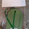 Blue Jay Ornament 001 - Blue on Green - Martha Bechtel - Back full bag