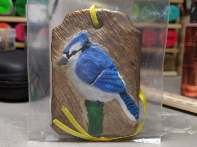 Blue Jay Ornament 002 - Gallery Image