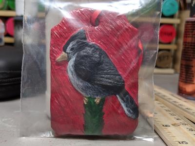 Blue Jay Ornament 003 - Martha Bechtel - Front bag