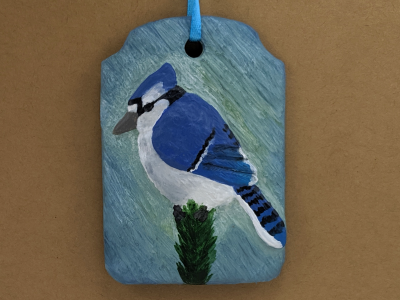 Blue Jay Ornament 005 - Gallery Image