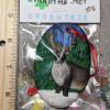 Reindeer Ornament 008 - Brown on Green Night - Martha Bechtel - Scale