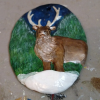 Reindeer Ornament - Painted Example - Martha Bechtel - Bottom