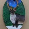 Reindeer Ornament - Painted Example - Martha Bechtel - Front