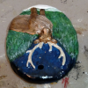 Reindeer Ornament - Painted Example - Martha Bechtel - Top
