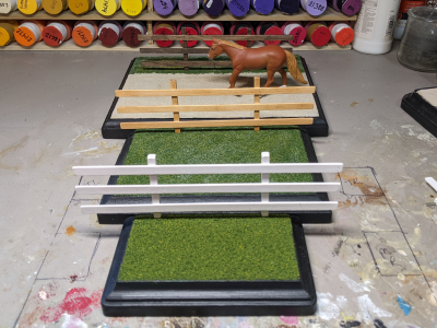 7 inch - Template A Stablemate Scale Model Horse - base sizes