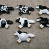 Fat Pony Magnets - Martha Bechtel - Black Tobiano Overo Sabino Group shot