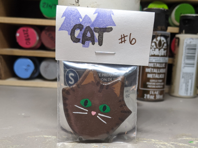 Flat Cat Head 006 - Martha Bechtel - Front Bag