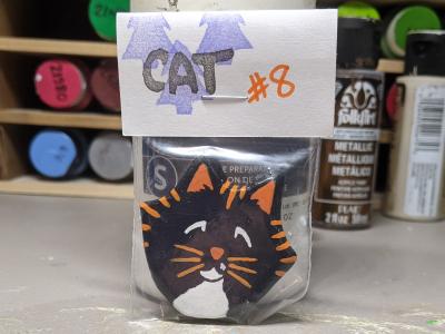 Flat Cat Head 008 - Front Bag