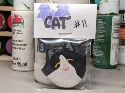 Flat Cat Head 011 - Martha Bechtel - Front Bag