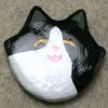 Flat Cat Head 011 - Martha Bechtel - Front Tan