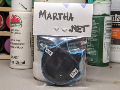 Flat Cat Head 012 - Martha Bechtel - Back Bag