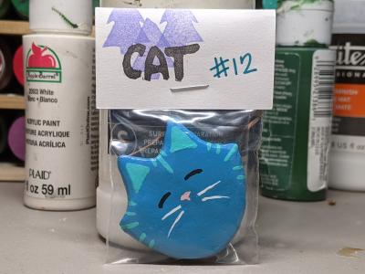 Flat Cat Head 012 - Martha Bechtel - Front Bag