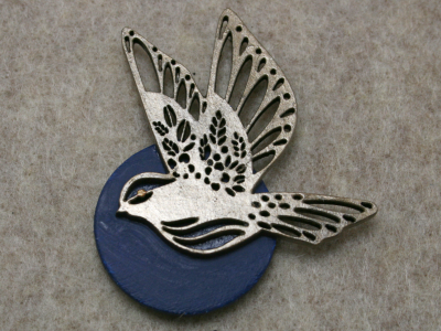 Bird Circles 003 - Martha Bechtel - Front Tan