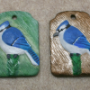 Blue Jay Christmas Ornament 001 002 - Martha Bechtel - Group Shot