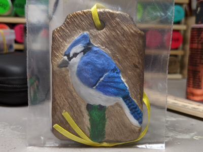 Blue Jay Ornament 002 - Martha Bechtel - Front Bag