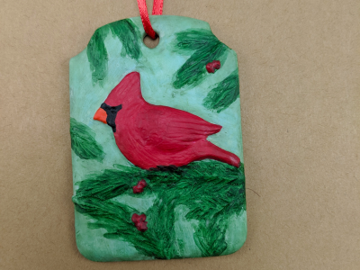 Cardinal Christmas Ornament 004 - Gallery Image
