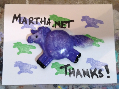Fat Pony Magnet 052 - Purple Going Gray - Martha Bechtel - On Card