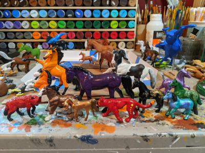 Finished Model Horses and Animals