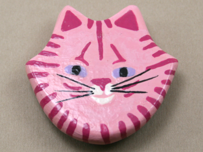 Flat Cat Head 003 - Martha Bechtel - Front Tan