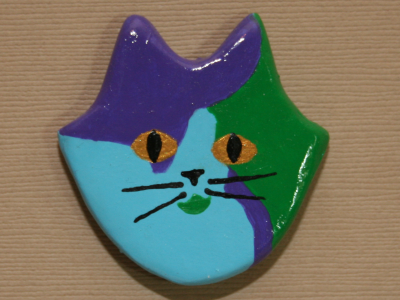 Flat Cat Head 004 - Martha Bechtel - Front Tan