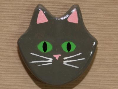 Flat Cat Head 005 - Martha Bechtel - Front Brown