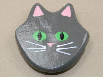 Flat Cat Head 005 - Martha Bechtel - Front tan