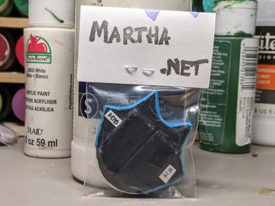 Flat Cat Head 014 - Martha Bechtel - Back Bag