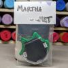 Flat Cat Head Magnet 016 - Martha Bechtel - Back Bag