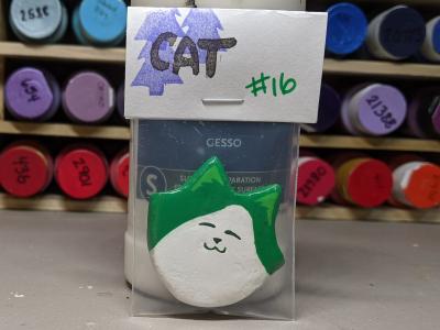 Flat Cat Head Magnet 016 - Martha Bechtel - Front Bag
