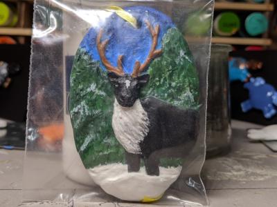 Reindeer Ornament 003 - Martha Bechtel - Front Bag