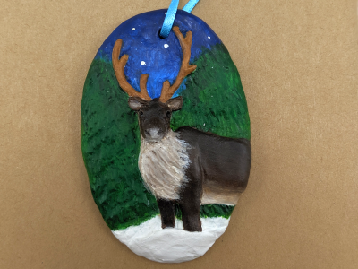Reindeer Ornament 006 - Martha Bechtel - Front Hang