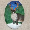 Reindeer Ornament 006 - Martha Bechtel - Front Tan