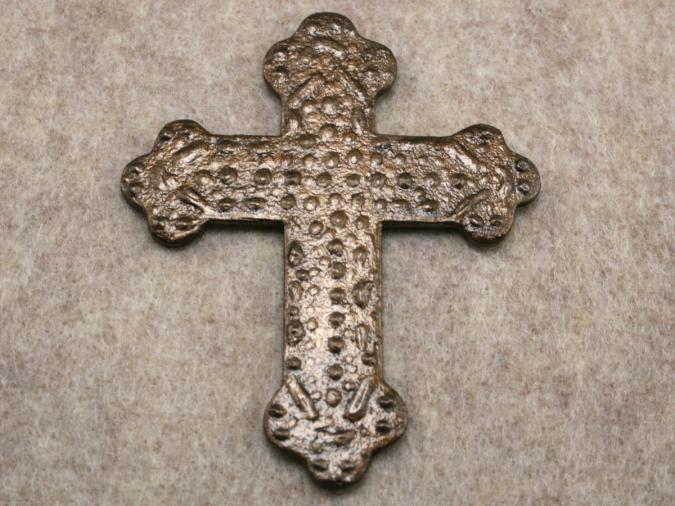 Wooden Cross Magnet 001 - Martha Bechtel - Flat Tan