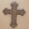 Wooden Cross Magnet 001 - Martha Bechtel - Front Tan