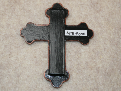 Wooden Cross Magnet 002 - Martha Bechtel - Back Tan