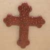 Wooden Cross Magnet 002 - Martha Bechtel - Front Tan