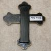 Wooden Cross Magnet 003 - Martha Bechtel - Back Tan