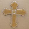 Wooden Cross Magnet 003 - Martha Bechtel - Front Tan