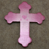 Wooden Cross Magnet 005 - Martha Bechtel - Flat Tan