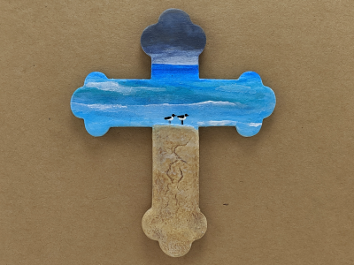 Wooden Cross Magnet 007 - Martha Bechtel - Gallery Image