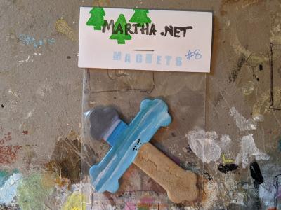 Wooden Cross Magnet 008 - Martha Bechtel - Front Desk