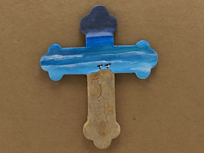 Wooden Cross Magnet 008 - Martha Bechtel - Gallery Image