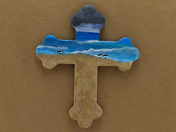 Wooden Cross Magnet 009 - Martha Bechtel - Gallery Image