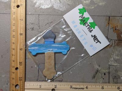 Wooden Cross Magnet 010 - Martha Bechtel - Scale
