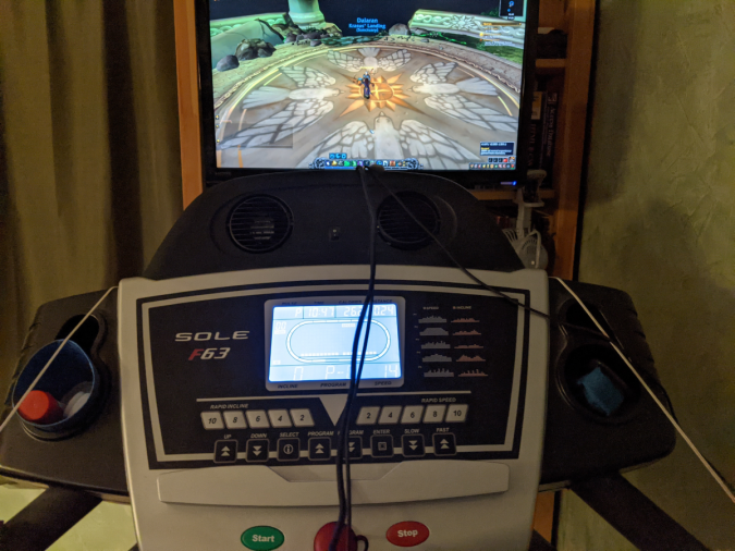 World of Warcraft Treadmill Computer Setup