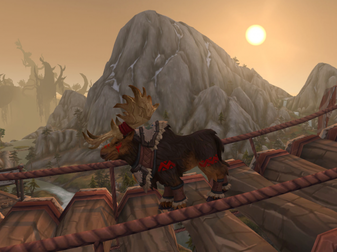 World of Warcraft - Moose on a bridge - Featherpaw