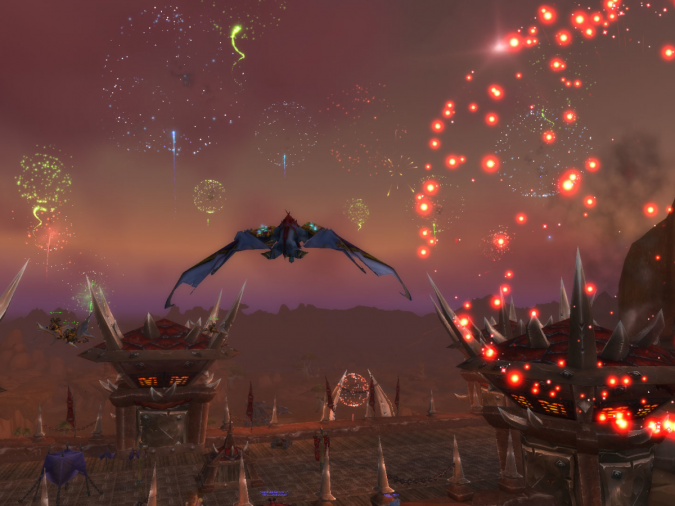 World of Warcraft - New Years Fireworks Orgramar - Icepaw