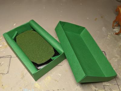 3x5 French Corners Rectangle - Grass Mix - Template A - Martha Bechtel - Model Horse Base - Box