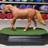 3x5 French Corners Rectangle - Grass Mix - Template A - Martha Bechtel - Model Horse Base - Horse