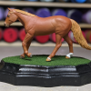 3x5 Scalloped Oval - Grass Mix - Martha Bechtel - Model Horse Base - Stablemate